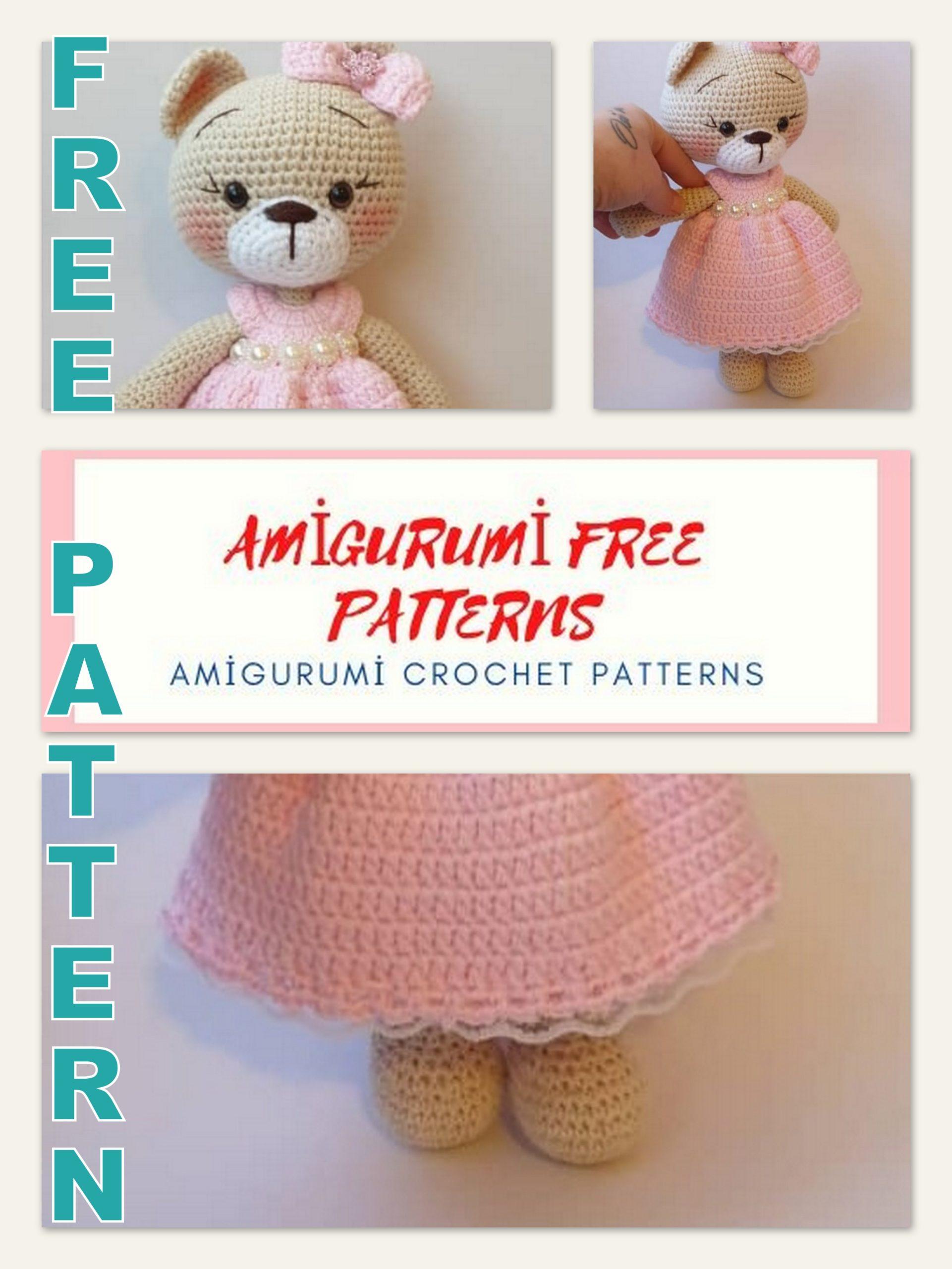Oliver the Bear Free Amigurumi Crochet Pattern - Stuffed Hearts | 2560x1921